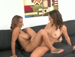 Lily has invited Jasmine to join her in a sex session. Its Jasmines first time with another girl and first threesome. Lily is excited to break Jasmines cherries and makes it easy for her to learn these fresh experiences.