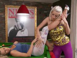 Youthful wannabe Sandra Hill meets smutty experienced Bianca in a billiards room for some lesbian toe fun. They kiss take up with the tongue and do all the sorts of other sexual fun with their bodies.