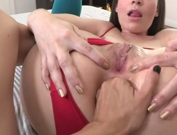 If u feel bored because of the ordinary lesbian flick, just watch Dana DeArmond and Dana Vespolis new update. They add anal invasion elements into their action of love.