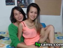 Lesbian Hot Nubiles Kissing and Licking On Cam