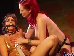Two lusty playgirls have some lesbo fun