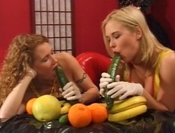 Danish lesbians having fun with Fruit - Dina and Jessica