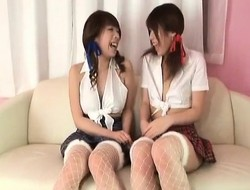 Arisa gets sextoys in wazoo from babe