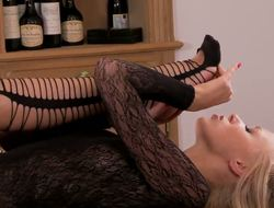 Two ardent lesbos Danielle Maye and Teena Lipoldino are gonna go all fetish kink on every other as they lick every others feet