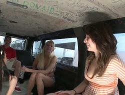 Do u think u can handle three times the ordinary fun on the team fuck bus Weve got Eden Adams, Giselle and Misty Anderson willing for carpet munching act in the back!